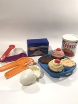 Vtg Fisher Price Fun With Food Pretend Kitchen Crisco Baking  Set  99% C... - $27.89