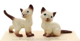 Hagen-Renaker Miniature Cat Figurine Siamese Mama and Papa Chocolate Point
