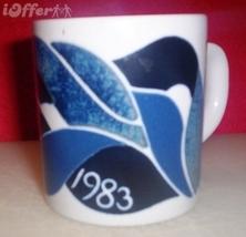 MID CENTURY MODERN-- ROYAL COPENHAGEN FAJANCE / FAIENCE 1983 ANNUAL CUP MUG - $44.95