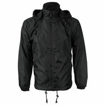 Men's Reversible Water Resistant Fleece Lined Hooded Rain Jacket w/ Defect  2XL image 2