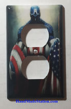 Captain America US Flag Light Switch Outlet Wall Cover Plate Home decor image 2