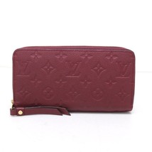 AUTHENTIC LOUIS VUITTON Monogram Empreinte Zippy Wallet Raisin M62214 - $900.00