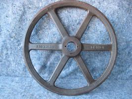 """Vintage Large 6 Spoke Iron Wheel """" V """" Belt Pulley - $29.69"""