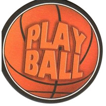 8 Absorbent Drink Coasters Play Ball Motif - Basketball - $5.93