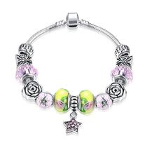 Strawberry & Banana Themed Pandora Inspired Charm Bracelet - $22.99