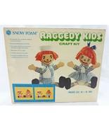 Vintage raggedy kids art & craft kit snow foam - $32.67