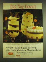 1966 Kraft Miniature Marshmallows Ad - Egg Nog Dessert - $14.99