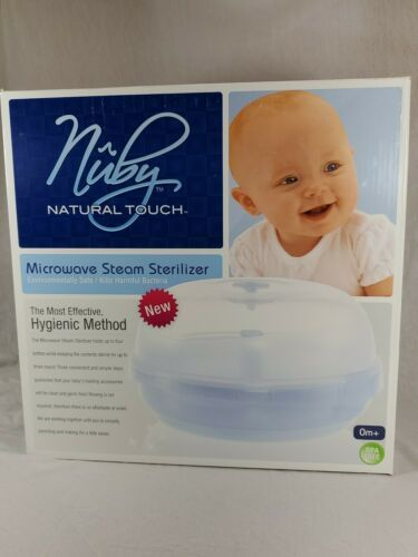 NIB NUBY Natural Touch MICROWAVE STEAM STERILIZER NEW Baby Bottle Sterilizer (bw - $19.80