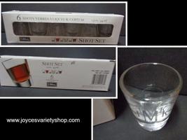 Libbey JMK Etched Shot Glasses Gift Set 6/1.5 oz Made In USA - $21.99