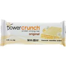 Power Crunch Bar - French Vanilla Cream - Case of 12 - 1.4 oz - $32.71