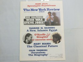 The New York Review of Books 2012 January Steve Jobs O'Keeffe Stieglitz 8Y - $39.99