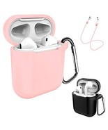 AirPods Case Keychain, Coffea 2 Pack Protective Silicone Case Cover and ... - $12.67