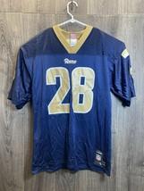 NFL LA Rams Marshall FAULK #28 HOF NAVY AND GOLD REEBOK AUTHENTIC JERSEY... - $48.00