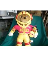 SF 49ers NFL Football Stuffed Toy Bear Play Football 2000 Tags still att... - $4.00