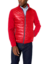 Tommy Hilfiger Men's Mixed Media Puffer Jacket w/ Softshell Sleeves - Ch... - $61.53+
