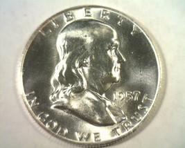 1957-D FRANKLIN HALF DOLLAR CHOICE / GEM UNCIRCULATED CH. / GEM UNC. ORI... - $23.00