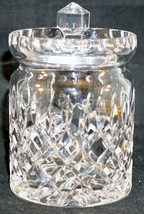 Irish Rose Crystal Jam Jelly Jar with Lid Hand Made in the Czech Republic - $25.99