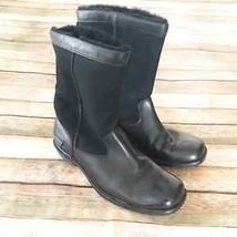 UGG Brookfield Sheepskin Leather Black Leather Women's Boots Sz 6.5  5592 - $34.65