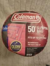 "Coleman Kids 50 Sleeping Bag Glow-In-The-Dark Design Pink 60"" x 26"" - $24.25"