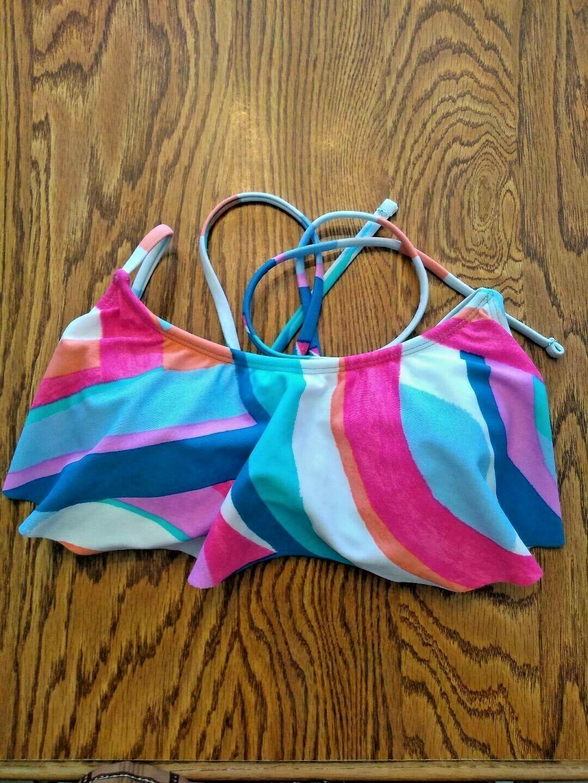 Hula Honey Multi Color Bikini Top Size Small