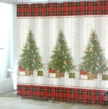 Avanti Fabric Shower Curtain Christmas Tree Gifts 72 x 72 - $19.99