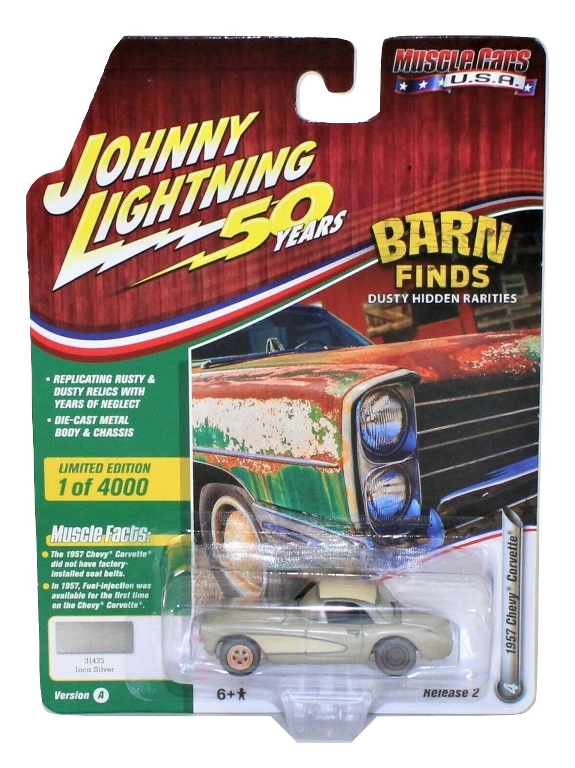 Silver Johnny Lightning 1998 Corvette Convertible Corvette Collection