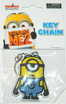 Despicable Me 2 Movie Stuart Minion Rubber Keychain, LICENSED NEW UNUSED - $6.89