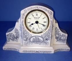 Vintage Ceramic History Craft Cirencester Mantel Clock West Germany - $8.24