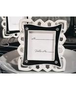 144 Stylish Black & White Photo Frame Place Card Holder Bridal Wedding F... - €145,39 EUR