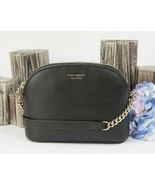 Kate Spade Sylvia Black Leather Small Dome Crossbody Bag NWT - $118.31