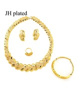 African Ethiopia gold color jewelry sets Dubai Jewelry Sets for women be... - $24.52