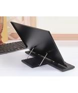 Book Stand Frame Reading Desk Holder 7 Tilt Adjustable Grooves Black - $22.45