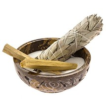 Alternative Imagination Soapstone Smudge Bowl Kit with 1 California Whit... - $54.99
