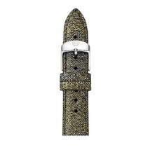 Michele MS16AA430839 Women's 16mm Metallic Leather Watch Band NEW! $100 - $44.99