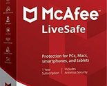 MCAFEE LIVESAFE 2020 - 5 Year UNLIMITED DEVICES - Windows Mac - DOWNLOAD Version - £20.26 GBP