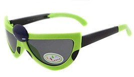 Hot Sale Seven-Spotted Ladybugs Folding Baby Sunglasses-Green Frame image 2
