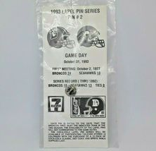 Classic 1993 NFL Football Lapel Hat Pin - Denver Broncos vs Seattle Seahawks image 3