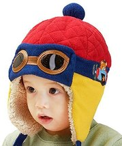 New Earflap Baby Warm Hat Cap Cute Baby Winter Hats RED, 10-48 Months
