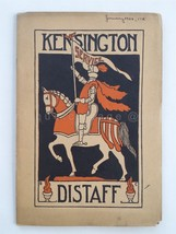 1924 JAN antique KENSINGTON pa GIRLS HIGH SCHOOL DISTAFF BOOK poetry sto... - $38.95