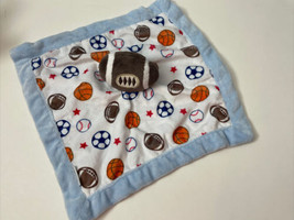 """Carter's Football Lovey Plush 2016 13"""" Blue Sports Security Blanket Sports - $17.97"""