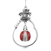 Inspired Silver 5.0 Carat Lady Bug Snowman Holiday Christmas Tree Ornament - $14.69