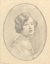 20th Century Graphite Drawing - Collection of Graphite Portraits + Nude ... - $45.42
