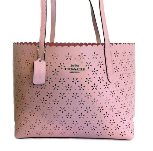 5126b1f688 COACH Avenue Tote Bag ~ Petal Pink Floral Perforated Leather Handbag F39894  NWT - $149.95
