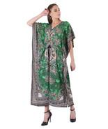 Hippy Boho Maxi Long Kaftan Dress Women Caftan Top Tunic Dress Gown Gree... - $7.19