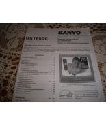 Sanyo Color TV Owner's Manual DS 19500 - $5.00