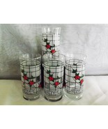 Coca Cola 16 oz Tumblers Set of 8 Vintage Holiday Pattern Glassware - $29.99