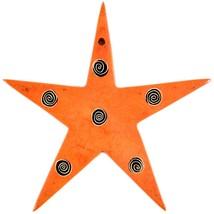 Tabaka Chigware Hand Carved Kisii Soapstone Orange Star Stone Ornament image 1