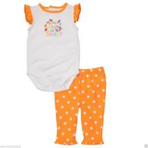 Carter's Baby Girl Flutter Sleeve 2-Piece Bodysuit  Set, Size 12 Months.NWT - $14.84