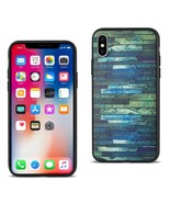 REIKO IPHONE X EMBOSSED WOOD PATTERN DESIGN TPU CASE WITH MULTI-LETTER - $8.05