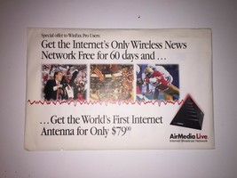 AirMedia Live Promotional Advertisement - Vintage Internet! - $5.25